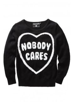 Killstar Nobody Cares Knit Sweater | Attitude Clothing