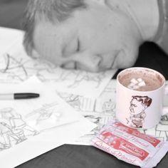 hotTEAs of Children's Literature: Ken Min Coffee Drinkers, Children's Literature, Hot Chocolate, Cocoa, Tea Cups, Beverages, Mugs, Tableware, Crockpot Hot Chocolate