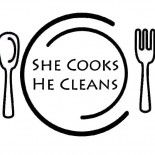 Lemon Garlic Shrimp over Cauliflower Mash | she cooks...he cleans