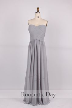 2015 Hot Sale Gray Chiffon Bridesmaid dresses/gray bridesmaid dress party/evening dress prom/plus size maxi dress 0224 by RomanticDay on Etsy https://www.etsy.com/listing/200538146/2015-hot-sale-gray-chiffon-bridesmaid