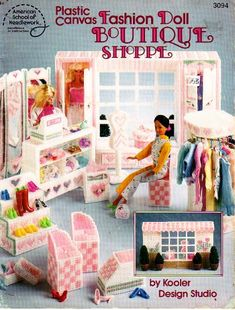 Plastic canvas fashion doll, boutique shoppe, by kooler design studio, for barbie