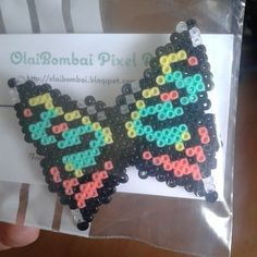Butterfly brooch hama beads by olaibombai