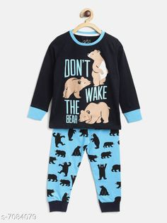 Checkout this latest Nightsuits Product Name: *Lazy Shark Boys Night Suits* Top Fabric: Cotton Blend Bottom Fabric: Cotton Blend Sleeve Length: Long Sleeves Top Type: T-shirt Bottom Type: Pajamas Top Pattern: Printed Bottom Pattern: Printed Multipack: 1 Sizes:  6-7 Years (Top Chest Size: 30 in, Top Length Size: 20 in, Bottom Waist Size: 27 in, Bottom Length Size: 28 in)  Easy Returns Available In Case Of Any Issue   Catalog Rating: ★4.1 (383)  Catalog Name: Classy Boys Nightsuits CatalogID_1130596 C59-SC1183 Code: 314-7084079-9951