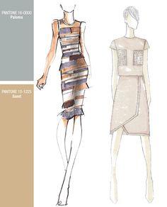 spring summer 2014 new york fashion week color report, pantone, Herve Leger by Lubov Azria, Adeam by Hanako Maeda