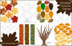 autumn printables - for gratitude tree