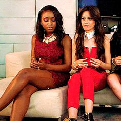 1 Normani & Camila playing with each other's hands during an interview @pretyfuckindope