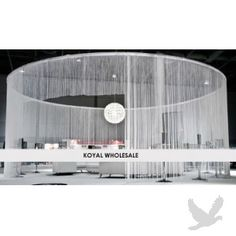 KoyalWholesale.com String #Curtain - White EXTRA LONG - great way to separate areas.  #outdoor wedding #decor #curtain #divider