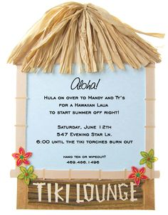 A luau in the summer is the perfect time of year to come to Polka Dot Design for those luau party ideas. All Hawaiian Luau Invitations come with a free proof. Hawaiian Luau Party, Hawaiian Birthday, Hawaiian Theme, Luau Birthday, Tropical Party, Tropical Paradise, Birthday Ideas, Luau Party Invitations, Invitation Ideas
