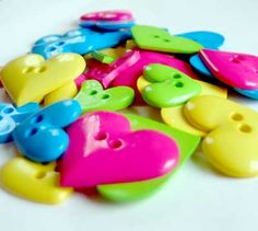Heart Shaped Buttons for a fun Valentine craft!