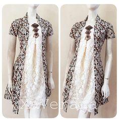 Batik Blazer, Blouse Batik, Batik Dress, Batik Fashion, Hijab Fashion, Fashion Dresses, Simple Dresses, Nice Dresses, Batik Couple