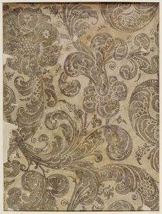 Wallpaper | V Search the Collections  Early 18th century, E.554-1935