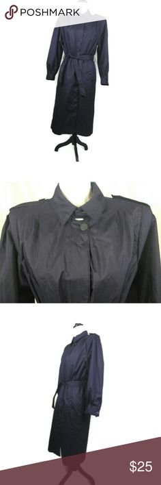 "British Mist Trench Raincoat You are buying British Mist Woman Coat Size 9/10 Purple Trench Raincoat Removable Liner in good condition.  Shell is 100% Polyester, Lining is 100% Nylon, Removable Lining is 100% Polyester.  Measurements are approximate Chest  44"" Sleeve 19"" Length 47""  C12 British Mist Jackets & Coats Trench Coats"