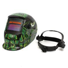 Aliens Pattern Solar Auto Darkening Welding Helmet Mask with Grinding Function