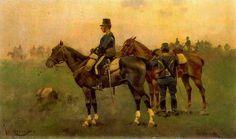 Cusachs caballeria en maniobras Military Art, Napoleon, Miniatures, Horses, Animals, Paintings, Ideas, Military History, Soldiers