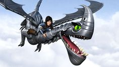 Heather and her own dragon the Razorwhip named Windshear from Dreamworks Dragons: Race to the Edge