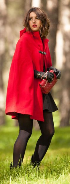 Little Red Riding Hood by Lovely Pepa - I love this coat and I envy her legs!!