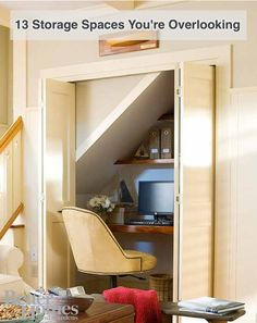 '13 Storage Spaces You're Overlooking...!' (via Better Homes & Gardens)
