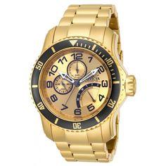 a1fa054002d Invicta 15343 Men s Yellow Steel Bracelet Quartz Pro Diver Gold Tone Dial  Day-Date Watch. Relogio QuartzRelógios ...
