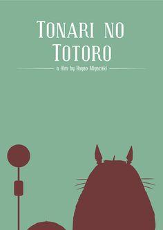 My Neighbor Totoro (1988) ~ Minimal Movie Poster by José Elpidio ~ Hayao Miyazaki Series #amusementphile