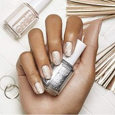 bare-ly+there+by+essie - get+graphic+in+this+nude+nail+art+design.+