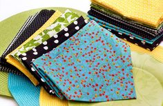 Make your own cloth napkins - awesome since I can never find ones that REALLY match what I am looking for!