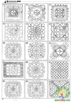 Crochet pattern   squares