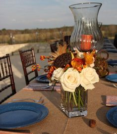 Fall weather can be unpredictable, depending on where you live, but Tara Wilson said hosting an outdoor party in fall is unexpected—and your last chance before the chilly winter months. However, always have an indoor back-up plan in case of sudden bad weather.   - CountryLiving.com