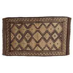 "Vintage Persian Baluchi Rug - 3'10"" x 6'7"" | Chairish"
