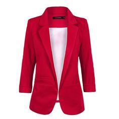 Blazer Women 2016 Candy Color Rolled Up Sleeve Boyfriend Style No Buckle Blazer Feminino Slim Blazer Small Suit Outwear C1750