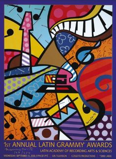Art pictures-Artist Romero Britto Painting Lessons, Art Lessons, Arte Country, Graffiti Painting, Expo, Mail Art, Art Plastique, Graphic, Art Pictures