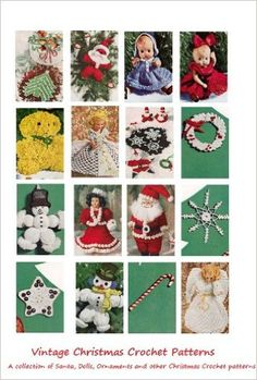 Amazon.com: Christmas Crochet Patterns - 25 Vintage Christmas Crochet Patterns - Ornaments, Angels, Santa, Snowflakes, Dolls and More. eBook: Craftdrawer Craft Patterns, Bookdrawer: Kindle Store