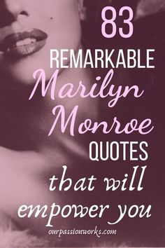READ NOW! 83 Remarkable Marilyn Monroe Quotes That Will Empower You with Life Quotes Relationship Quotes Love Quotes Friendship Quotes Success Quotes & Feminism Quotes Self Love Quotes, Quotes To Live By, Best Quotes, Good Relationship Quotes, Life Quotes, Quotes Quotes, Poster Quotes, Leadership Quotes, Success Quotes