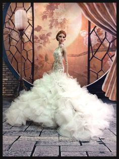 phakhapapha-PKPP-656 Fashion royalty FR2 Wedding Mermaid Gown Outfit for dolls 12