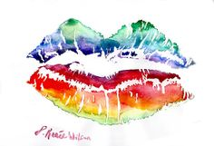 Love may be blind, but it colors our world! Equality and kisses for ALL! xoxo Visit me at www.facebook.com/DReneeWilsonArt to connect, see more of my art, and for hand signed art prints.