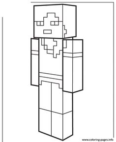Print alex from minecraft Coloring pages