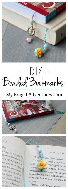 Easy DIY beaded bookmarks.  Such a simple and fun children's craft idea.