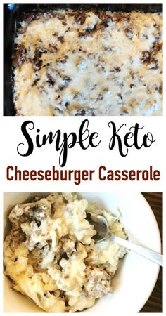 If you're looking for a simple dinner idea, this cheeseburger casserole will do the trick. And it's keto / low carb making it a great addition to your ketogenic diet regimen. Great for meal prep, easy to make ahead, and it's a kid approved dinner recipe. Ketogenic Recipes, Low Carb Recipes, Diet Recipes, Dessert Recipes, Ground Beef Keto Recipes, Keto Desserts, Lunch Recipes, Low Carb Hamburger Recipes, Healthy Recipes