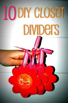 10 DIY Closet Dividers - great for separating infant clothes by month after baby showers.