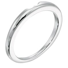 Tiffany-Style 6-Prong Matching Wedding Band - Complete your bridal set with the ultimate classic!  This wedding band is designed to nestle comfortably against the high profile of your Tiffany-Style 6-prong engagement ring.   Order additional services like a personal engraving or an appraisal for $25 each. Contact customer service for details at 1.800.509.4990.  Shown in 14k gold; call customer service for an upgrade to 18k, palladium, or platinum.  Standard Ship item:  your ...