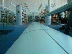 Phoenix Central Library....plenty of task lighting for the book stacks