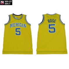 Aliexpress.com   Buy Michigan State 5 Tigers  5 Jalen Rose Basketball  Jersey Throwback College Beast Beat Student Team Yellow Retro Jerseys from  Reliable ... 02eab980a