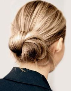 Hair bun. *This board is in collaboration with Coach