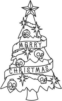 Spooky Christmas Tree | Urban Threads: Unique and Awesome Embroidery Designs (#UTH3963) 22 November 2011