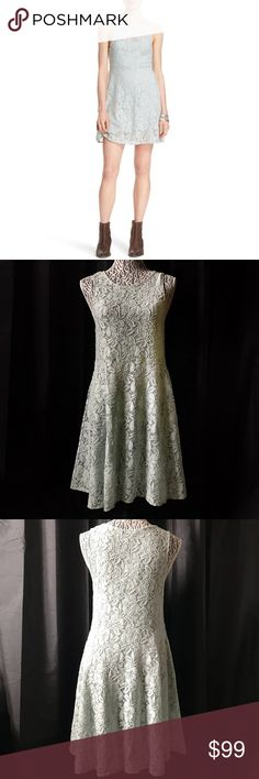 """Free People miles of lace fit & flare dress small Free People miles of lace fit & flare dress small  Pit to pit 16"""" Shoulder 12"""" Top Length 15"""" Skirt length 19""""   Not what you're looking for? Feel free to browse my closet for other occasions: Winter, spring, summer, fall, birthday, New Year's Eve, Valentine's Day date, Graduation, Prom, Purim, St. Patrick's Day, Easter, Earth Day, Cinco de Mayo, Mother's Day, EDC, Coachella, Memorial Day, Comic Con, 4th of July, Labor Day, Thanksgiving…"""