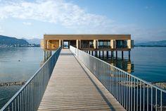 Enjoy modern architecture on Lake Constance in Vorarlberg, Austria.  #austria #vorarlberg #lakeconstance #summer #visitaustria