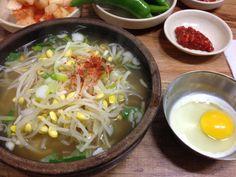 2014.2.23 점심. 콩나물 국밥