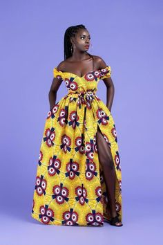 African fashion is available in a wide range of style and design. Whether it is men African fashion or women African fashion, you will notice. African Prom Dresses, African Fashion Dresses, Fashion Outfits, Fashion Hacks, Modern African Dresses, Fashion Styles, Fashion Ideas, Fashion Swimsuits, Ghanaian Fashion