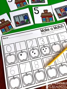 This numbers to 10 bundle is perfect for the PreK and Kindergarten classroom. The activities use basic classroom supplies like plastic math cubes, mini erasers, and plastic bears. Students will practice number recognition, counting, one-to-one correspondence and more. This numbers to 10 bundle is super easy to prep too!