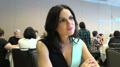 Lana Parrilla at Comic-Con 2015 in the pressroom