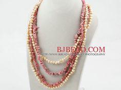 Serie rosa perla e collana Rhodonite ritorto